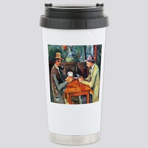 The Card Players Stainless Steel Travel Mug