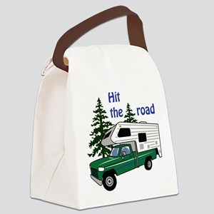 Hit the Road Canvas Lunch Bag