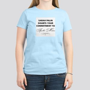 Sarah Palin doubts your commitment Women's Light T