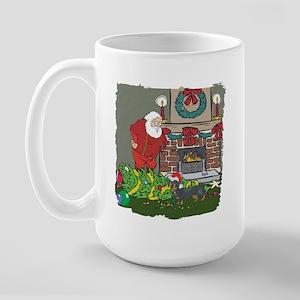 Santa's Helper Dachshund Large Mug