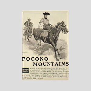 Pocono Mountains Travel Ad Rectangle Magnet