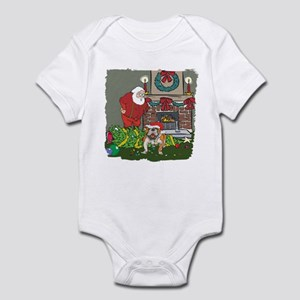 Santa's Helper Bulldog Infant Bodysuit