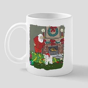 Santa's Helper Bichon Frise Mug