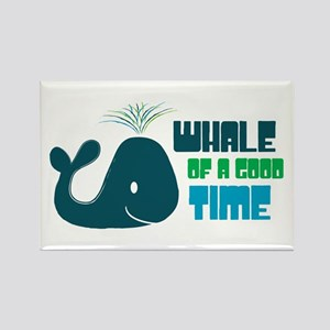 Whale of a Good Time Rectangle Magnet