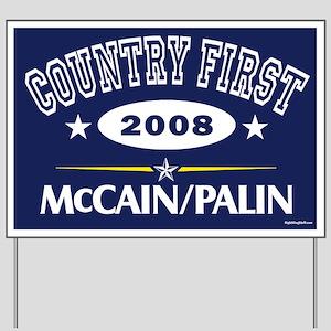 Collegiate McCain Palin Yard Sign