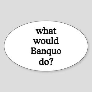 Banquo Oval Sticker