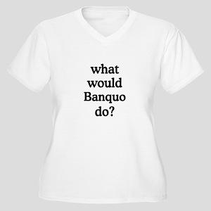 Banquo Women's Plus Size V-Neck T-Shirt
