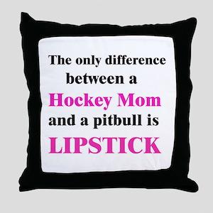 Palin Hockey Mom Pitbull Lipstick Throw Pillow