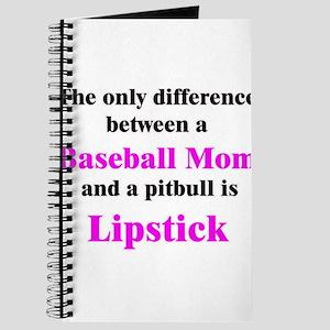 Baseball Mom Pitbull Lipstick Journal
