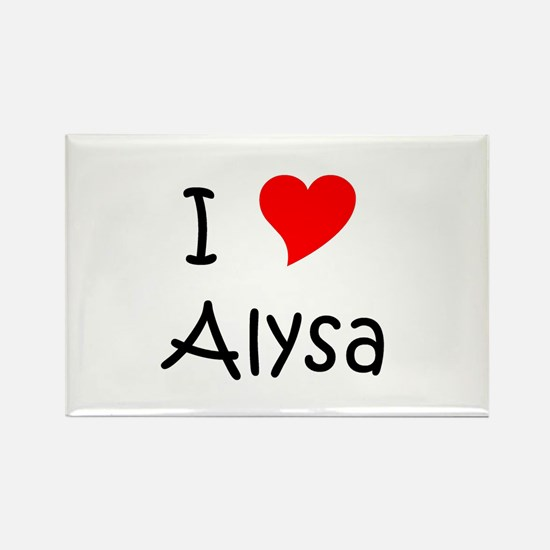 Cool Alysa Rectangle Magnet