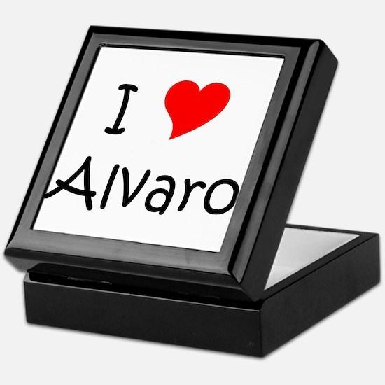 Cute I love alvaro Keepsake Box