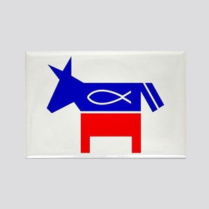 Christian Fish Democratic Rectangle Magnet
