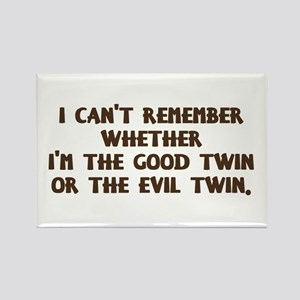 Good Twin or Evil Twin? Rectangle Magnet