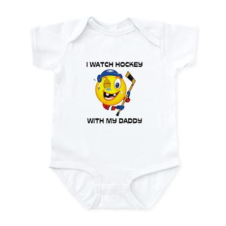 Watch Hockey With Daddy Infant Bodysuit