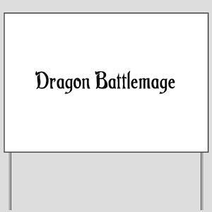 Dragon Battlemage Yard Sign