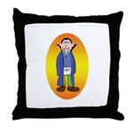 The Happy Mason Vampire Throw Pillow