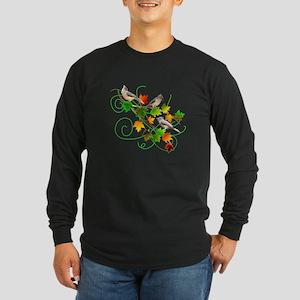 Titmice Long Sleeve Dark T-Shirt