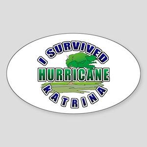 I Survived Hurricane Katrina Oval Sticker