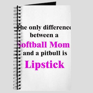 Softball Mom Pitbull Lipstick Journal