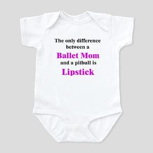 Ballet Mom Pitbull Lipstick Infant Bodysuit