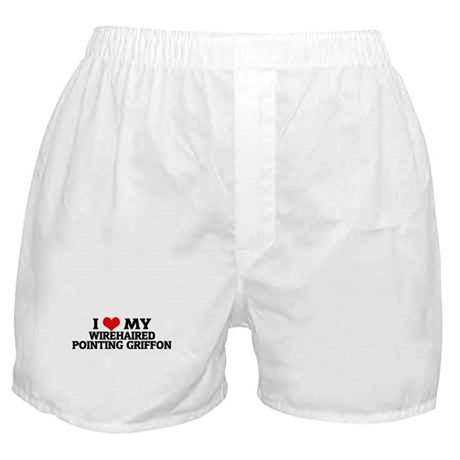 I Love My Wirehaired Pointing Boxer Shorts