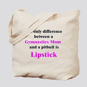 Gymnastics Mom Pitbull Lipstick Tote Bag