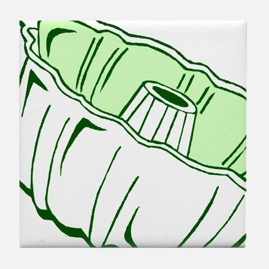Bundt Pan (white) Tile Coaster