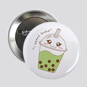 """I Heart Boba"" 2.25"" Button"