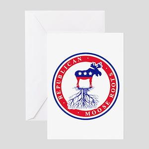 Republican Sarah Palin Moose Roots Greeting Card