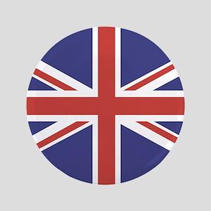 """UNION JACK UK BRITISH FLAG 3.5"""" Button"""