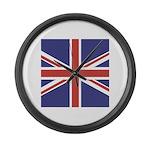 UNION JACK UK BRITISH FLAG Large Wall Clock