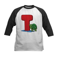 T For Turtle Kids Baseball Jersey