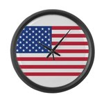 AMERICAN US FLAG Large Wall Clock