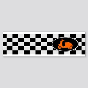 Checkerboard Scoot Bumper Sticker
