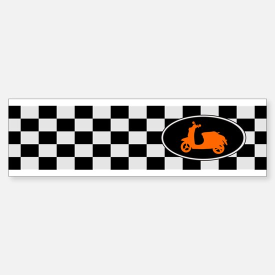 Checkerboard Scoot Bumper Bumper Bumper Sticker