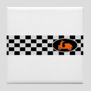 Checkerboard Scoot Tile Coaster