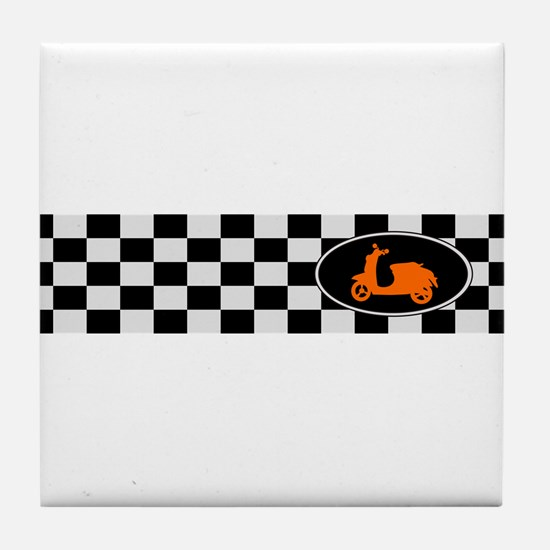 Checkerboard Scoot Tile Coaster