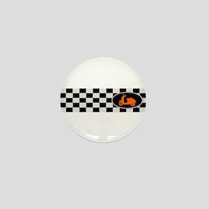 Checkerboard Scoot Mini Button
