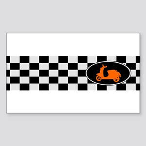 Checkerboard Scoot Rectangle Sticker