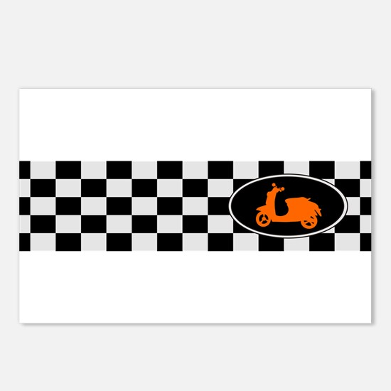 Checkerboard Scoot Postcards (Package of 8)