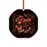 Quilt Pumpkin Ornament (Round)