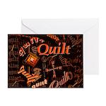 Quilt Pumpkin Greeting Card