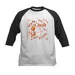 Quilt Pumpkin Kids Baseball Jersey