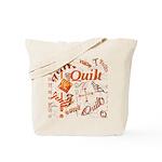 Quilt Pumpkin Tote Bag