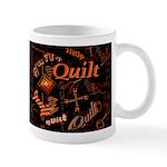 Quilt Pumpkin Dark Mug
