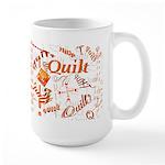 Quilt Pumpkin Large Mug