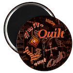 Quilt Pumpkin Magnet