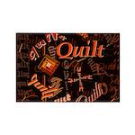 Quilt Pumpkin Rectangle Magnet (10 pack)