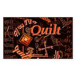 Quilt Pumpkin Rectangle Sticker 50 pk)