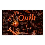 Quilt Pumpkin Rectangle Sticker